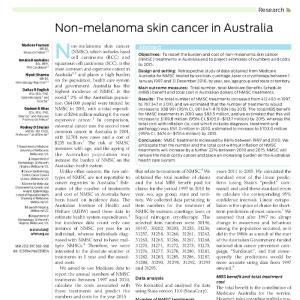 non-melanoma skin cancer australia