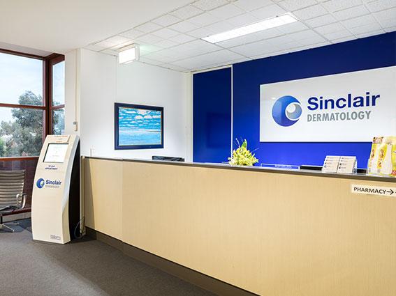 Sinclair Dermatology Reception Area